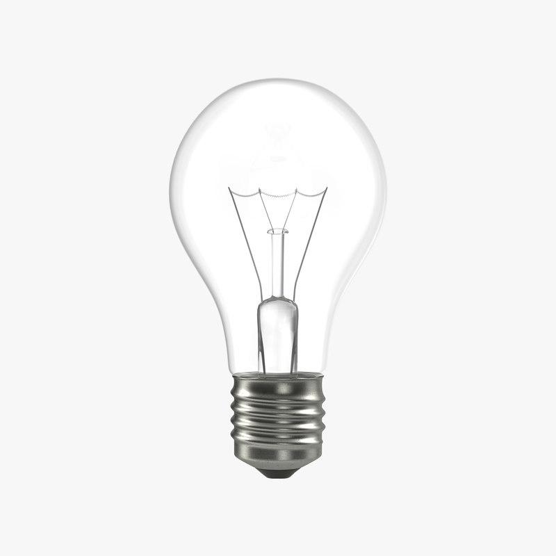 3d electric light bulb