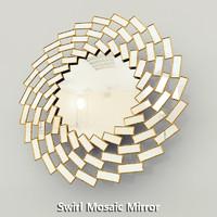 maya swirl mosaic mirror