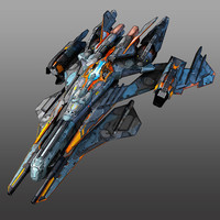 3d model scifi starfighter