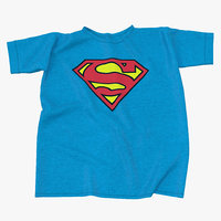 superman logo t-shirt 3d model