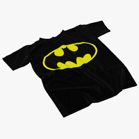batman t-shirt 3d model