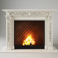 3d model fireplace artworks dionis
