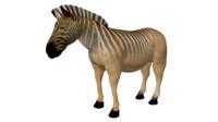 quagga zebra africa 3d model