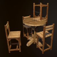 Rustic Pub Table and Chair