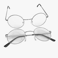 glasses set 3d obj