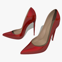 3d model pumps heel