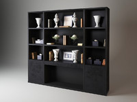 3d model bookshelf roy lib240 fendi