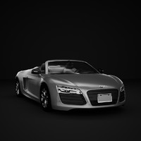 3ds max car audi r8 spyder