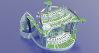 3d city futuristic