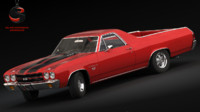 3d model chevrolet el camino ss