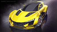 3d model car concept generic