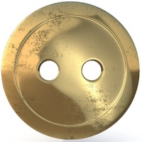 3d model of brass button