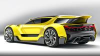 3d car concept generic model
