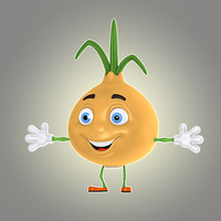 3d cartoon onion model