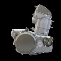 3d model moto engine