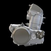 3d model moto engine