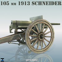 3d 105 mm schneider cannon