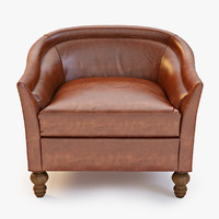 3d leather holloway armchair