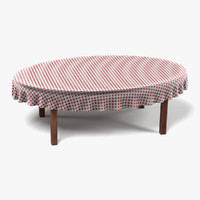 3d 3ds table tablecloth oval