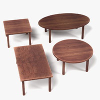 3d wooden tables