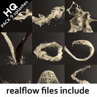 splash pack realflow flow 3d model
