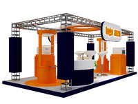 kiosk partition booth 3d model