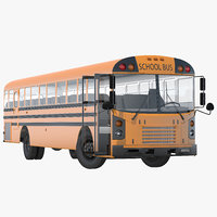 3d model schooll bus rigged