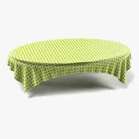 tablecloth oval 3d 3ds