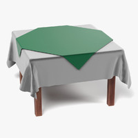 3ds table tablecloth square