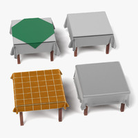 tables tableclothes square 3d 3ds