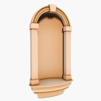 3d interior walls niche model