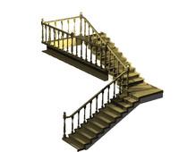 3d stairws e left model
