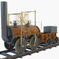3d model 1825 locomotion steam train