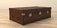 3d model mayfair steamer trunk coffee table