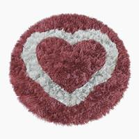 3d max children s heart rug