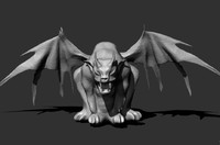 3d model gargoyle creature