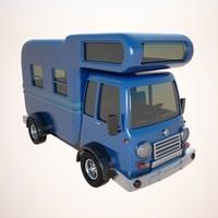 caravan car van 3d max