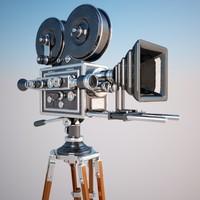3dsmax vintage movie camera