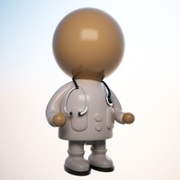 medical doctor toon 3d max