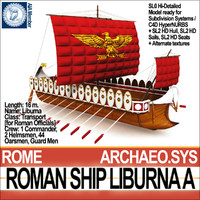 maya ancient roman ship liburna