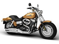 harley-davidson fxdf fat bob 3d model