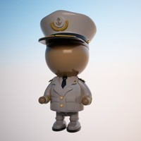 captain character ship 3d max