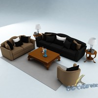 3ds max sofa set