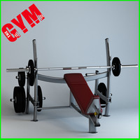 3d olympic incline press model