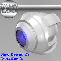 spy drone 01 3d model