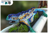 3d model lizard park güell