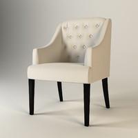 eichholtz chair lancaster arm 3d model
