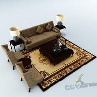 3d max sofa set