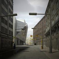 urban scene 3d max
