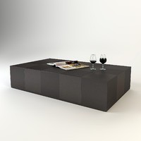 flexform coffee table 3d model